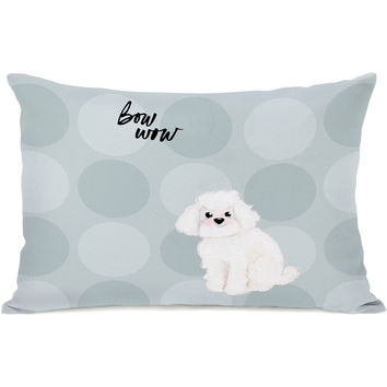 """Pup Words Cockapoo"" Indoor Throw Pillow by April Heather Art, 14""x20"""