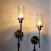 Mason Jar Lights Wall Sconce  Set of 2  Industrial by BootsNGus