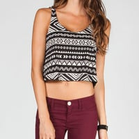 Lira Tribal Womens Crop Tank Black/White  In Sizes