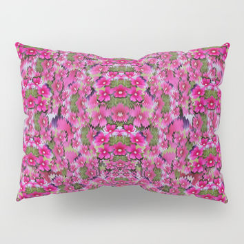 fantasy magnolia tree in a fantasy landscape Pillow Sham by Pepita Selles