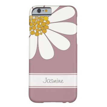 Daisy flower personalize name barely there iPhone 6 case