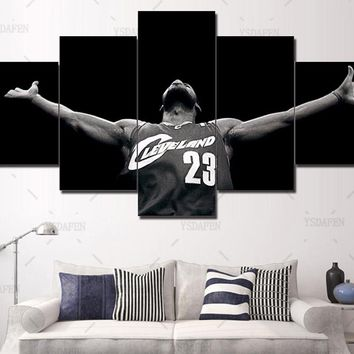 d29536a4 Framed Art 5 Panel Print Canvas Nba Art Picture Wall Art Home De