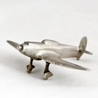 1930s Vintage Art Deco Airplane Aeroplane Metal Industrial Home Decor