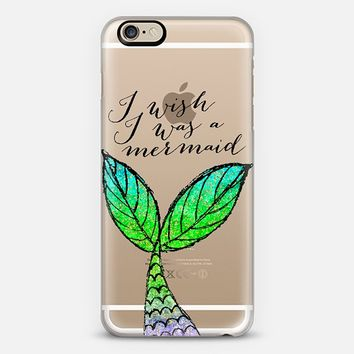 I Wish I Was a Mermaid iPhone 6 case by Tracey Coon   Casetify