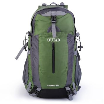 OUTAD Unisex Men / Women OUTAD 40L Outdoor Hiking Waterproof Travel Luggage Backpack New Mint With Suspension System