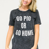 Go Pig Or Go Home Game Tee