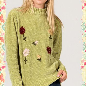So Green With Envy Chenille Sweater
