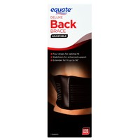 Adjustable Back Brace By Equate For Men Lumbar Support Back Brace With Removable Stays | Deluxe Elastic Back Brace Size-adjustable  Padded Against Abrasion, Pain, Muscle Stiffness & Soreness