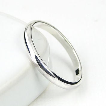 Sterling Silver Ring Simple Band, Wedding Band, Stacking Ring, Pinkie Rings, Sterling Silver Jewellery