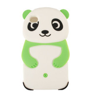 Unlimited Cellular Novelty Case for Apple iPhone 4/4S (Green Panda)