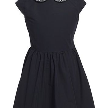 Girl's kate spade new york kids 'kimberly' embellished fit & flare dress