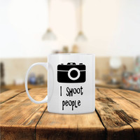 I Shoot People Ceramic Coffee Mug - Dishwasher Safe - Cute Coffee Mug- Funny Coffee Mug - Custom - Personalized