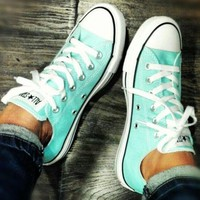 Converse  Leisure Comfort Shoes All Star Sneakers for Unisex sports Mint green Low Top