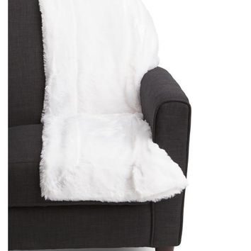 Thro by Marlo Lorenz Soft White Fur Throw