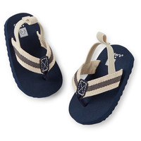 Carter's Navy Flip Flop Crib Shoes