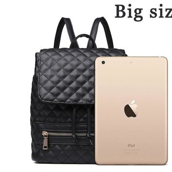 School Backpack trendy Back to School Laptop Backpacks,Kanken Bagpacks For Teenage Girls,Black Formal Punk Mochila Hipster Practical Sac a dos Femme AT_54_4