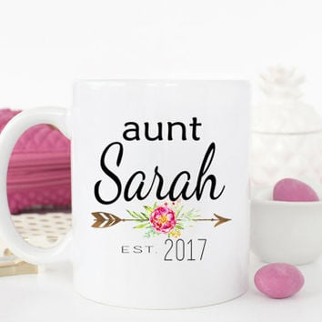 Aunt mug, New Aunt Gift, Pregnancy Announcement, Pregnancy Reveal, Gifts for Aunt, Aunt to be, Unique Coffee Mugs, Gift for sister, mug set