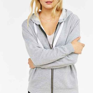 UNIF Zip-Up Oversized Hoodie Sweatshirt