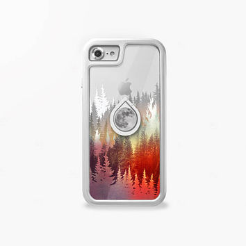 iPhone Case and Floral Print Phone Stand Ring Holder, Camera Protector, Home Button, Glass Film, Dust Plugs- The World's 1st Apple Care Pack