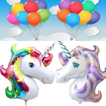 Rainbow Unicorn Foil Balloons 20pcs Unicornio Party Suplies Ballon new year decor Globos Birthday Party Decorations Kids balloon