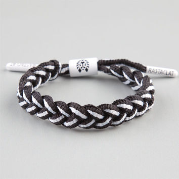Rastaclat Crooklyn Shoelace Bracelet Black/White One Size For Men 23874512501