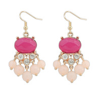 Strong Character Bohemia Water Droplets Decoration Earrings [4919669956]