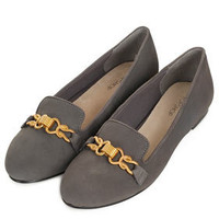 MRS Gold Trim Slippers - Flats  - Shoes