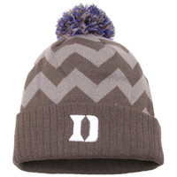 Duke Blue Devils Top of the World Women's Chevron Knit Hat – Gray