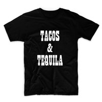 Tacos And Tequila Graphic Tshirt, Graphic Tee, Womens Graphic Tee, Womens Graphic Tshirt