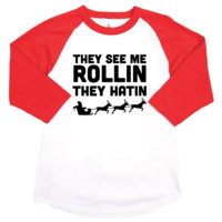 They See Me Rollin Christmas Unisex Adult Tee