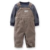Thermal Tee & Corduroy Overall Set