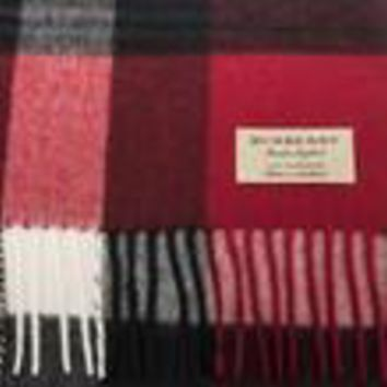 Burberry Unisex Large Classic Cashmere Scarf Red