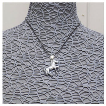 Stainless steel horse necklace