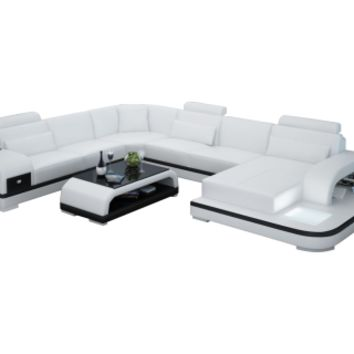 Jetson Leather Sectional Sofa by Scene Furniture - Opulentitems.com