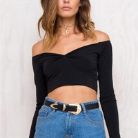 Motel Quelyn Top Black
