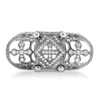 Sterling Silver CZ Art Deco Armor Knuckle Ring 1.5 ct.twBe the first to write a reviewSKU# R886-01