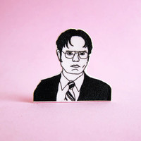 Dwight Schrute Pin / The Office / Stocking Stuffer / Boyfriend Gift