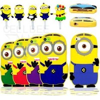 3D Heavy Duty Cartoon Cute Rubber Silicone Soft Case for iPhones 5S 5C 5 4S 4