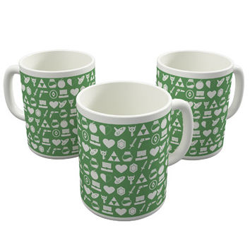 The Legend Of Zelda Inspired Pattern Art Print Ceramic Coffee Mug / Cup Retro