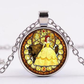 Beauty and the Beast Cabochon Fashion Necklace