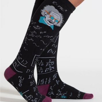 Einstein Relatively Cool Women's Knee Socks by Sock It To Me