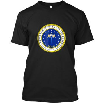 Department of Space Force Funny Political Satire T-Shirt Custom Ultra Cotton