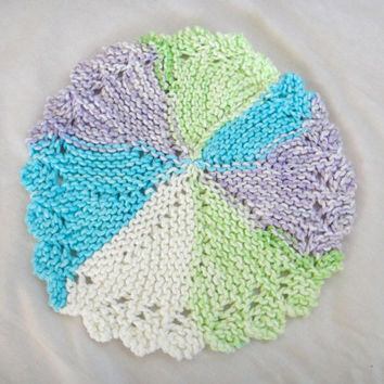 Dishcloth Washcloth Set of 3 Round Colorful