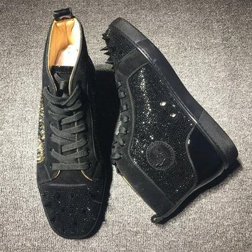 DCCK Cl Christian Louboutin Louis Spikes Style #1826 Sneakers Fashion Shoes