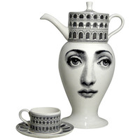 Tea Set by Piero Fornasetti, limited edition of 10 pieces