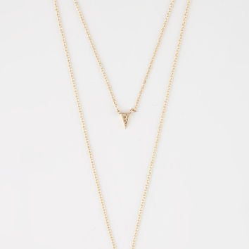 FULL TILT 2 Layer Dainty Triangle Choker | Necklaces