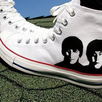 sale 20 percent off the beatles converse shoes hand painted