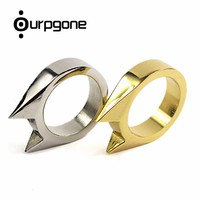 Ourpgone Brand 1*Mini Alloy Defensive Ring Self Defense Weapons Broken Window Device Rescue Gear Survival EDC Tool Free shipping