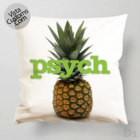 Psych Pillow Case, Chusion Cover ( 1 or 2 Side Print With Size 16, 18, 20, 26, 30, 36 inch )