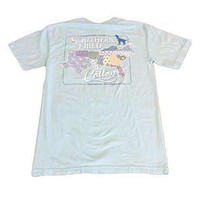 Sucker for the South Pocket Tee in Chambray by Southern Fried Cotton